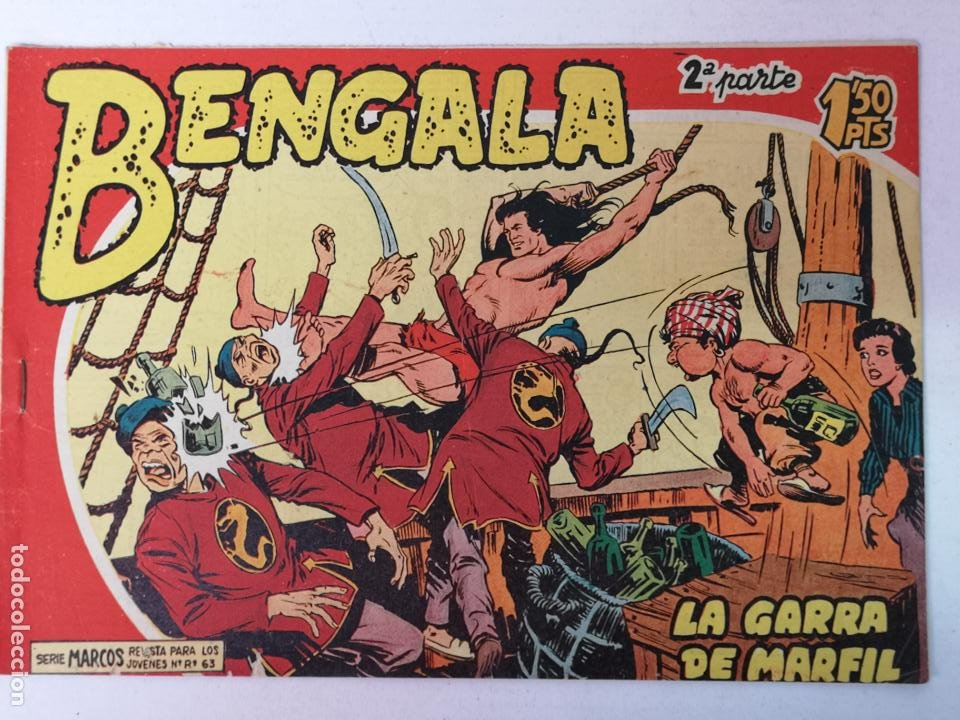 BENGALA 2°PARTE N°3 EDT. MAGA 1960 (Tebeos y Comics - Maga - Bengala)