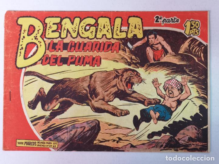 BENGALA 2°PARTE N°38 EDT. MAGA 1960 (Tebeos y Comics - Maga - Bengala)