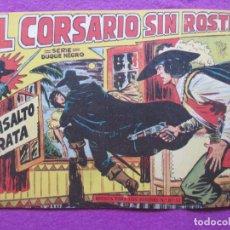 Tebeos: TEBEO EL CORSARIO SIN ROSTRO SERIE DUQUE NEGRO EL ASALTO PIRATA 1959 Nº4 ED. MAGA ORIGINAL. Lote 218678963