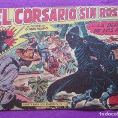 Tebeos: TEBEO EL CORSARIO SIN ROSTRO SERIE DUQUE NEGRO LA DERROTA DE LOS PIRATA 1959 Nº8 ED. MAGA ORIGINAL. Lote 218679578