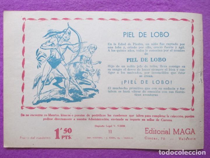 Tebeos: TEBEO EL CORSARIO SIN ROSTRO SERIE DUQUE NEGRO SEPARACION 1959 Nº11 ED. MAGA ORIGINAL - Foto 2 - 218679721