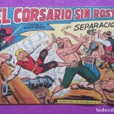 Tebeos: TEBEO EL CORSARIO SIN ROSTRO SERIE DUQUE NEGRO SEPARACION 1959 Nº11 ED. MAGA ORIGINAL. Lote 218679721
