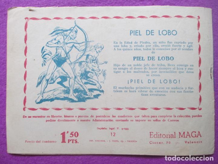 Tebeos: TEBEO EL CORSARIO SIN ROSTRO SERIE DUQUE NEGRO LA ISLA DE LOS LAGARTOS 1959 Nº12 ED. MAGA ORIGINAL - Foto 2 - 218679836