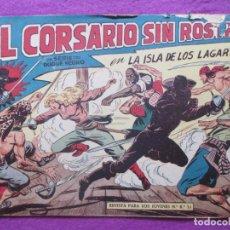 Tebeos: TEBEO EL CORSARIO SIN ROSTRO SERIE DUQUE NEGRO LA ISLA DE LOS LAGARTOS 1959 Nº12 ED. MAGA ORIGINAL. Lote 218679836