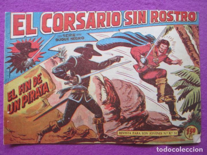 TEBEO EL CORSARIO SIN ROSTRO SERIE DUQUE NEGRO EL FIN DE UN PIRATA 1959 Nº18 ED. MAGA ORIGINAL (Tebeos y Comics - Maga - Otros)