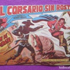 Tebeos: TEBEO EL CORSARIO SIN ROSTRO SERIE DUQUE NEGRO EL FIN DE UN PIRATA 1959 Nº18 ED. MAGA ORIGINAL. Lote 218680383