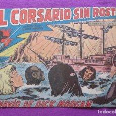 Tebeos: TEBEO EL CORSARIO SIN ROSTRO SERIE DUQUE NEGRO EL NAVIO DE DICK MORGAN 1959 Nº19 ED. MAGA ORIGINAL. Lote 218680477