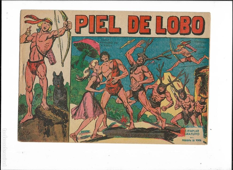 Tebeos: Piel de Lobo Año 1959 Colección Completa son 90 Tebeos Originales + el Almanaque del 1960 Original - Foto 4 - 220240072