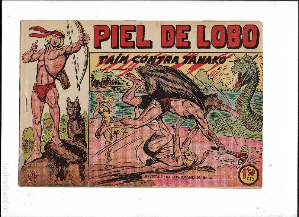 Tebeos: Piel de Lobo Año 1959 Colección Completa son 90 Tebeos Originales + el Almanaque del 1960 Original - Foto 8 - 220240072