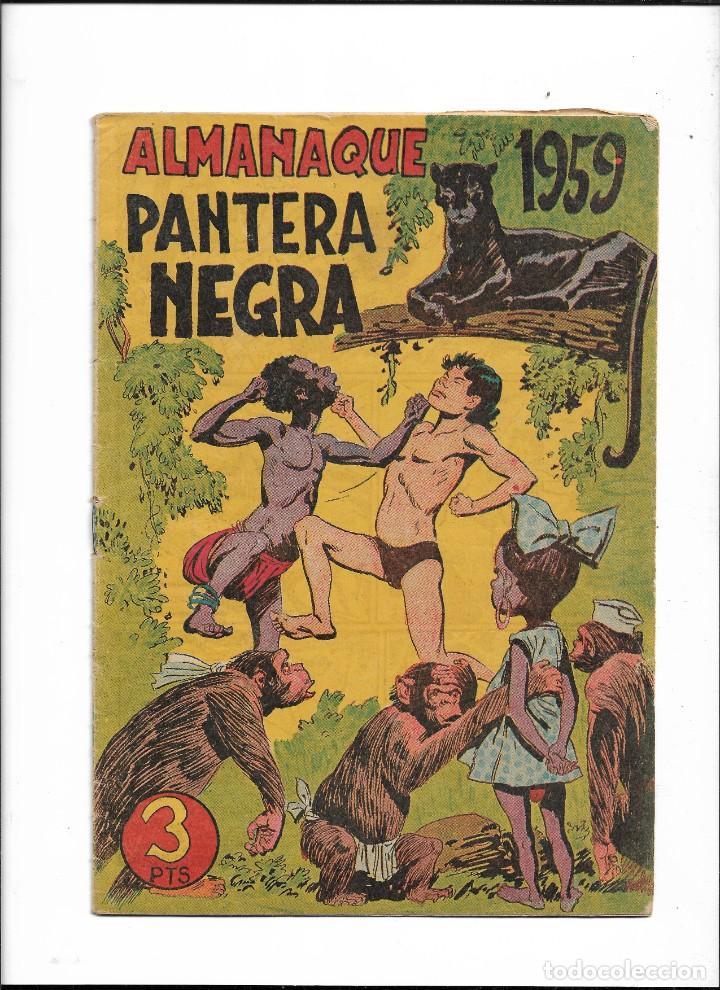 Tebeos: Pantera Negra Colección Completa son 54 Tebeos Originales muy nuevos + 4 Almanaques 1957 al 1960 - Foto 6 - 220265656