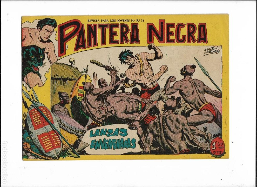 Tebeos: Pantera Negra Colección Completa son 54 Tebeos Originales muy nuevos + 4 Almanaques 1957 al 1960 - Foto 12 - 220265656