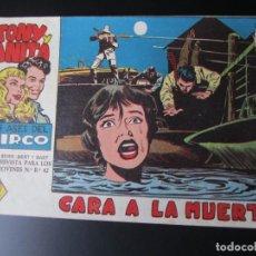 Tebeos: TONY Y ANITA (1960, MAGA) 3 · 27-VII-1960 · CARA A LA MUERTE. Lote 220275595