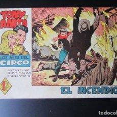Tebeos: TONY Y ANITA (1960, MAGA) 9 · 7-IX-1960 · EL INCENDIO. Lote 220287245