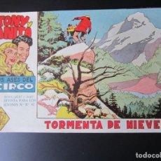 Tebeos: TONY Y ANITA (1960, MAGA) 14 · 12-X-1960 · TORMENTA DE NIEVE. Lote 220287980
