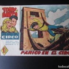 Tebeos: TONY Y ANITA (1960, MAGA) 26 · 4-I-1961 · PANICO EN EL CIRCO. Lote 220501571