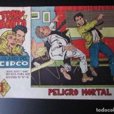 Tebeos: TONY Y ANITA (1960, MAGA) 28 · 18-I-1961 · PELIGRO MORTAL. Lote 220502177