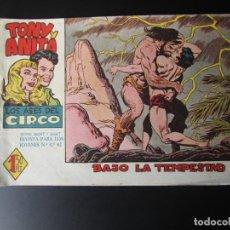 Tebeos: TONY Y ANITA (1960, MAGA) 20 · 23-XI-1960 · BAJO LA TEMPESTAD. Lote 220503240