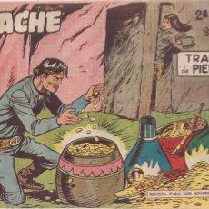 Tebeos: APACHE 2ª PARTE Nº 40: TRAMPA DE PIEDRA. Lote 220588390