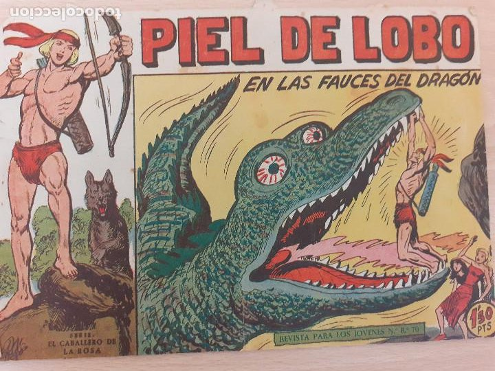 PIEL DE LOBO Nº 55. ORIGINAL. EN LAS FAUCES DEL DRAGÓN. MAGA 1959 (Tebeos y Comics - Maga - Piel de Lobo)