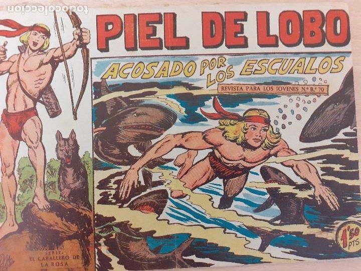 PIEL DE LOBO Nº 45. ORIGINAL. ACOSADO POR LOS ESCUALOS. MAGA 1959 (Tebeos y Comics - Maga - Piel de Lobo)