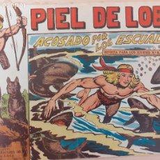 Livros de Banda Desenhada: PIEL DE LOBO Nº 45. ORIGINAL. ACOSADO POR LOS ESCUALOS. MAGA 1959. Lote 220688017