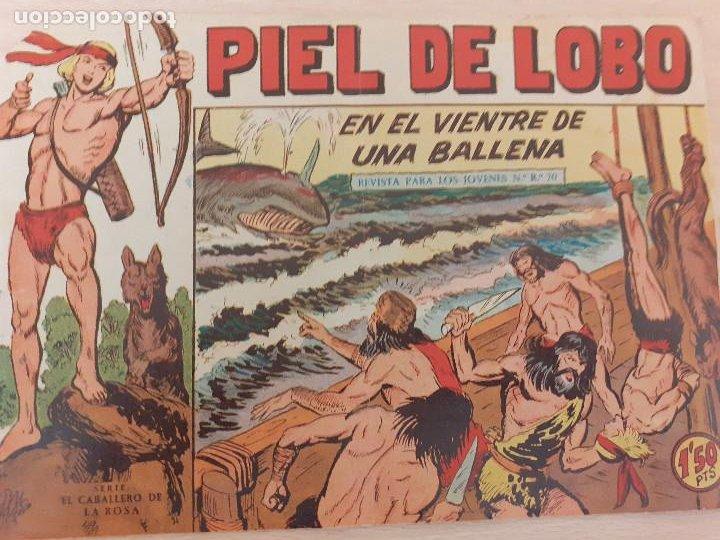 PIEL DE LOBO Nº 38. ORIGINAL. EN EL VIENTRE DE UNA BALLENA. MAGA 1959 (Tebeos y Comics - Maga - Piel de Lobo)