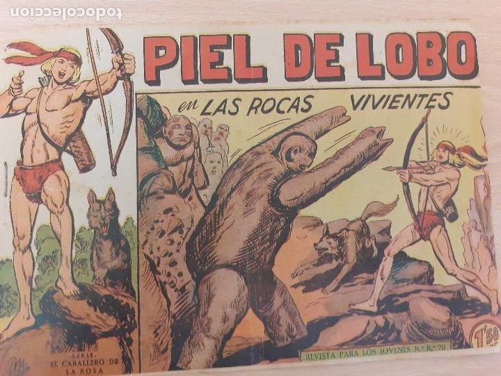 PIEL DE LOBO Nº 35. ORIGINAL. LAS ROCAS VIVIENTES. MAGA 1959 (Tebeos y Comics - Maga - Piel de Lobo)