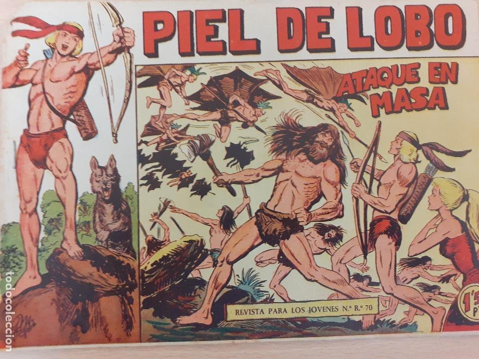 PIEL DE LOBO Nº 13. ORIGINAL. ATAQUE EN MASA. MAGA 1959 (Tebeos y Comics - Maga - Piel de Lobo)
