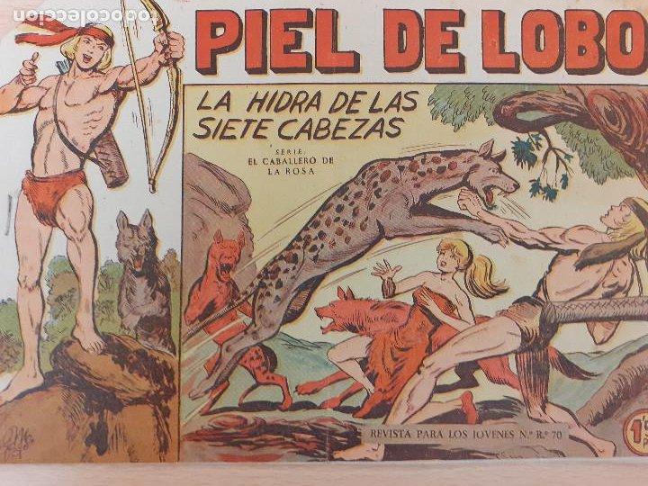 PIEL DE LOBO Nº 8. ORIGINAL. LA HIDRA DE LAS SIETE CABEZAS. MAGA 1959 (Tebeos y Comics - Maga - Piel de Lobo)