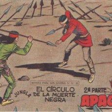 Tebeos: APACHE 2ª PARTE Nº 55: EL CÍRCULO DE LA MUERTE NEGRA. Lote 220756821