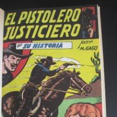 Tebeos: PISTOLERO JUSTICIERO, EL (1951, MAGA) FACSIMILES. Lote 220761816