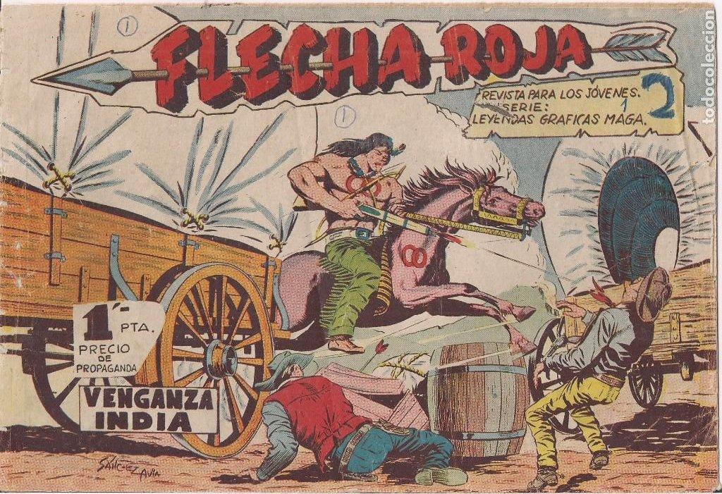 FLECHA ROJA Nº 1: VENGANZA INDIA (Tebeos y Comics - Maga - Flecha Roja)