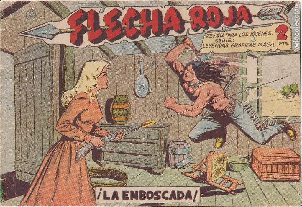 FLECHA ROJA Nº 2: LA EMBOSCADA (Tebeos y Comics - Maga - Flecha Roja)