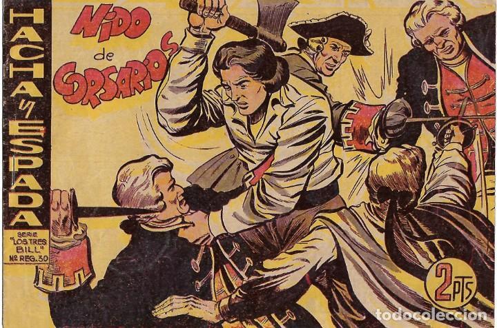 HACHA Y ESPADA Nº 17 ORIGINAL, MAGA 1961 MUY BIEN -- LEER TODO (Tebeos y Comics - Maga - Otros)