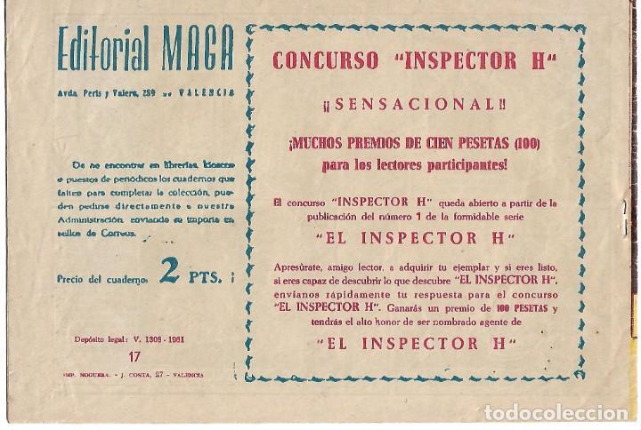 Tebeos: HACHA Y ESPADA Nº 17 ORIGINAL, MAGA 1961 MUY BIEN -- LEER TODO - Foto 2 - 221115298