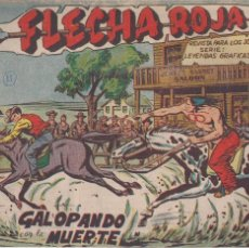 Tebeos: FLECHA ROJA Nº 15: GALOPANDO CON LA MUERTE. Lote 221117356