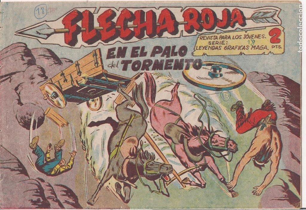 FLECHA ROJA Nº 18: EN EL PALO DEL TORMENTO (Tebeos y Comics - Maga - Flecha Roja)