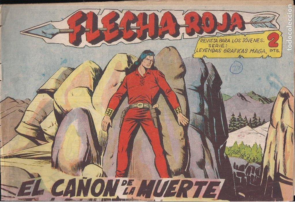 FLECHA ROJA Nº 27: EL CAÑÓN DE LA MUERTE (Tebeos y Comics - Maga - Flecha Roja)