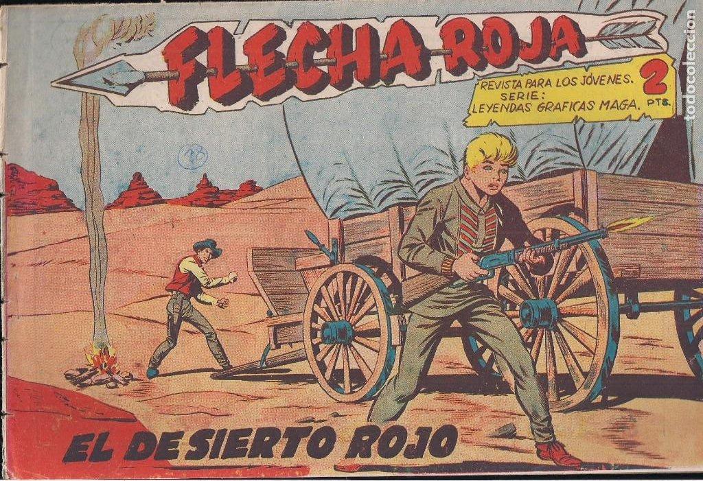 FLECHA ROJA Nº 28: EL DESIERTO ROJO (Tebeos y Comics - Maga - Flecha Roja)