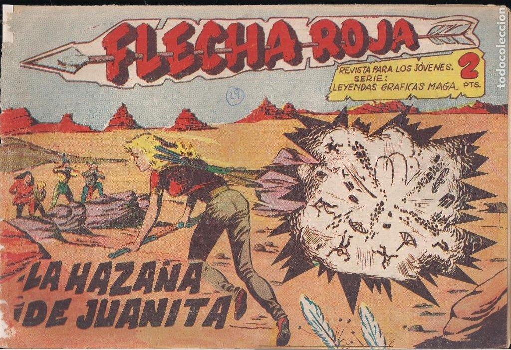 FLECHA ROJA Nº 29: LA HAZAÑA DE JUANITA (Tebeos y Comics - Maga - Flecha Roja)