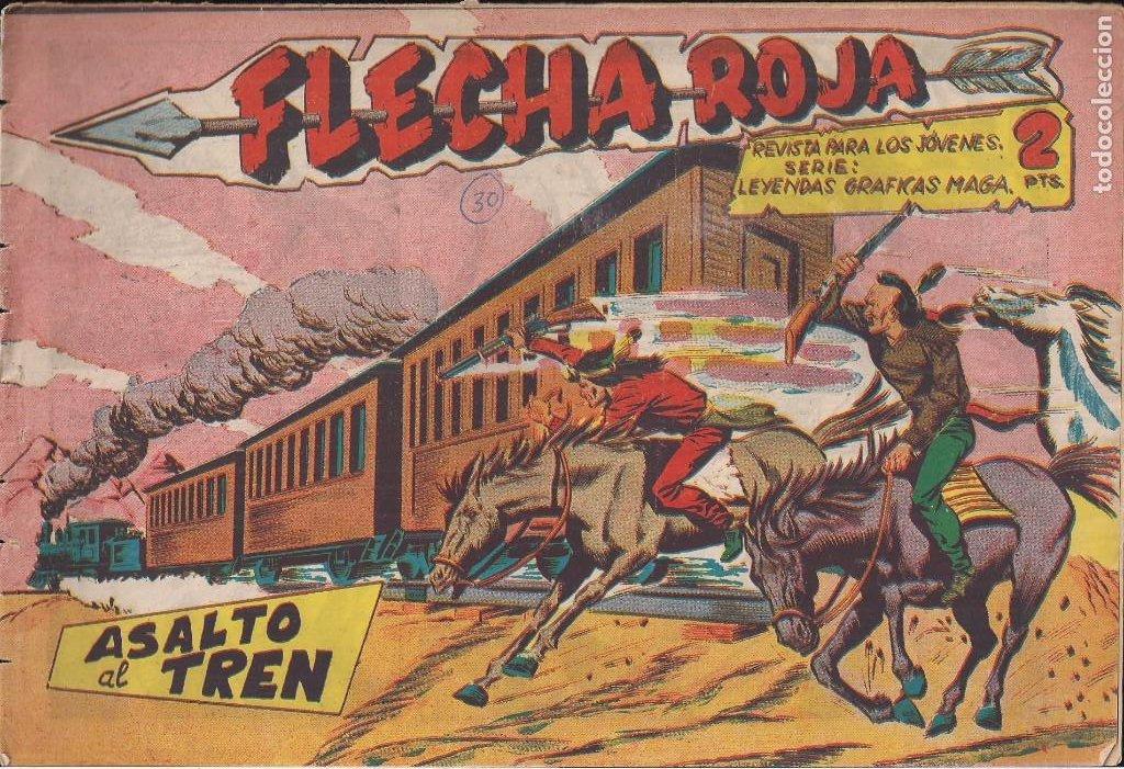 FLECHA ROJA Nº 30: ASALTO AL TREN (Tebeos y Comics - Maga - Flecha Roja)