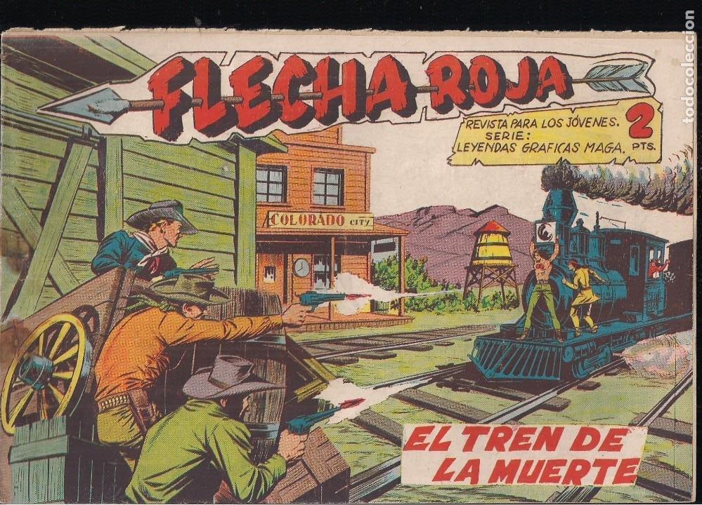 FLECHA ROJA Nº 31: EL TREN DE LA MUERTE (Tebeos y Comics - Maga - Flecha Roja)
