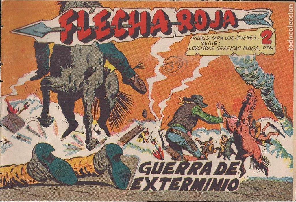 FLECHA ROJA Nº 32: GUERRA DE EXTERMINIO (Tebeos y Comics - Maga - Flecha Roja)