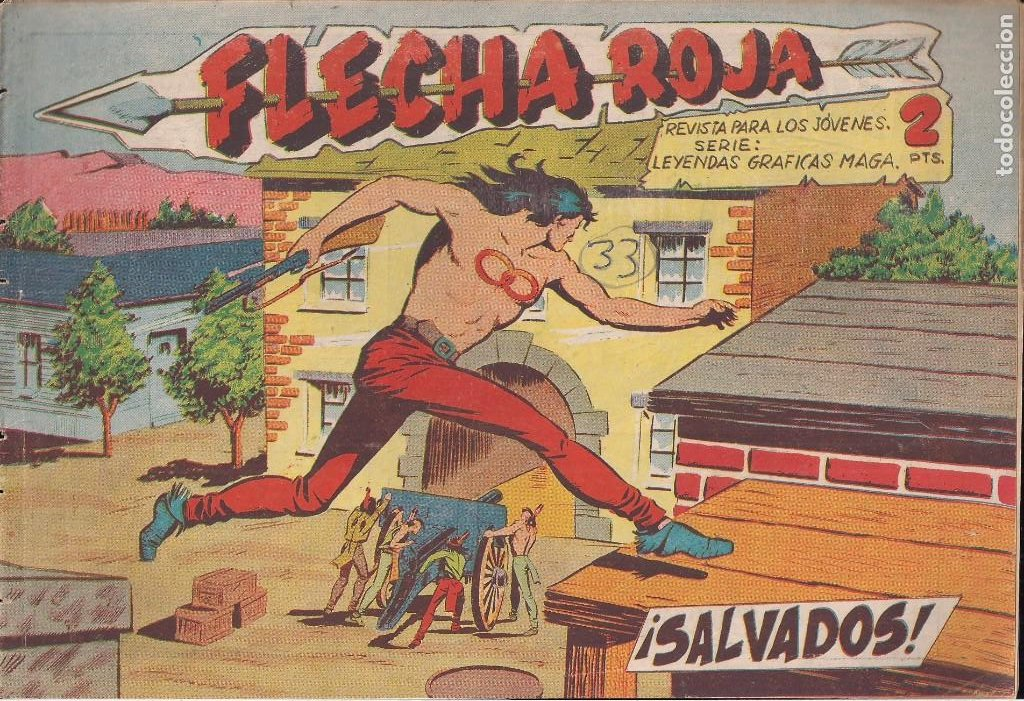 FLECHA ROJA Nº 33: SALVADOS (Tebeos y Comics - Maga - Flecha Roja)