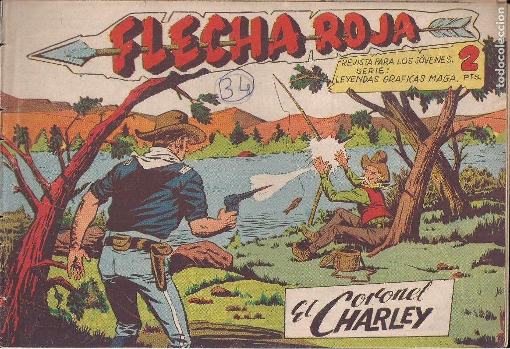 FLECHA ROJA Nº 34: EL CORONEL CHARLEY (Tebeos y Comics - Maga - Flecha Roja)