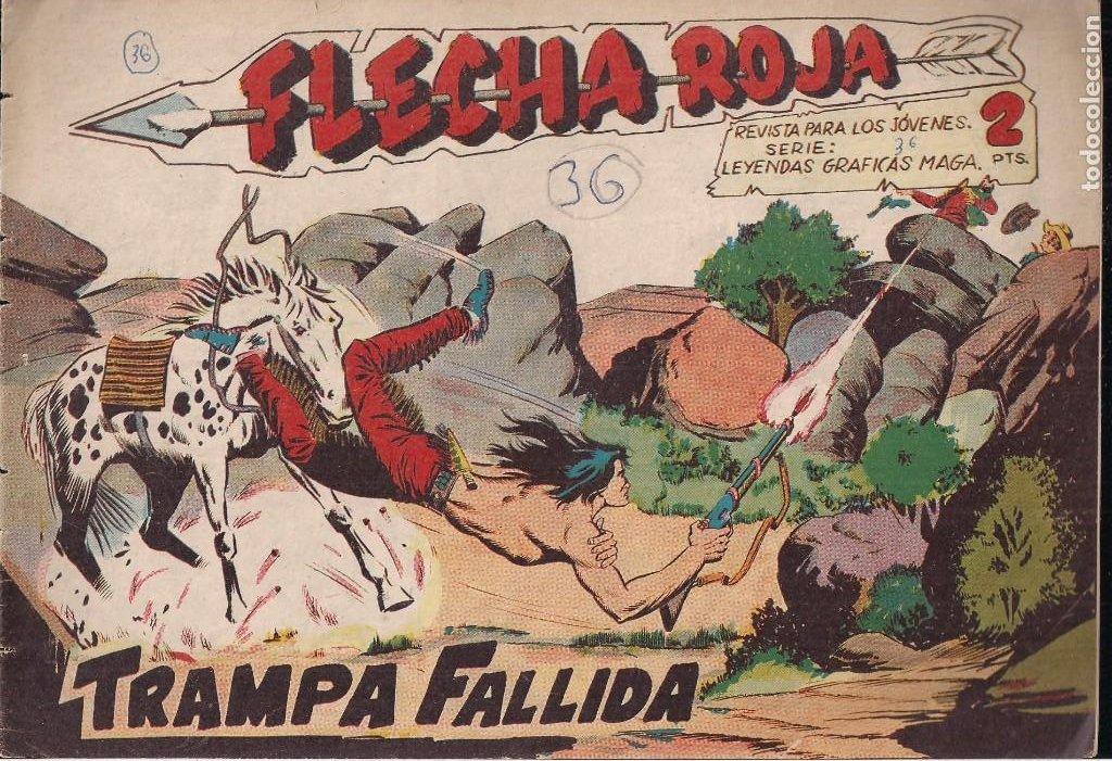 FLECHA ROJA Nº 36: TRAMPA FALLIDA (Tebeos y Comics - Maga - Flecha Roja)