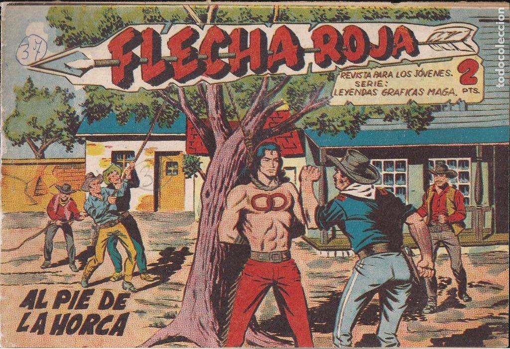 FLECHA ROJA Nº 37: AL PIE DE LA HORCA (Tebeos y Comics - Maga - Flecha Roja)