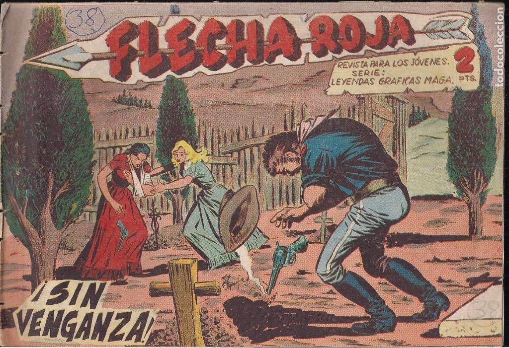 FLECHA ROJA Nº 38: SIN VENGANZA (Tebeos y Comics - Maga - Flecha Roja)