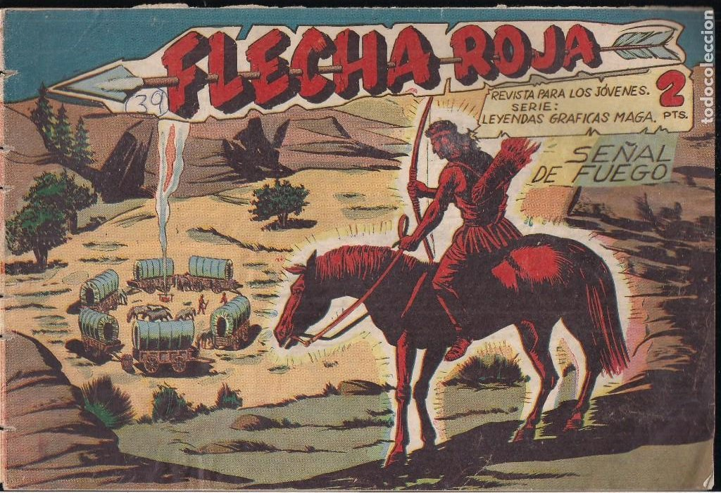 FLECHA ROJA Nº 39: SEÑAL DE FUEGO (Tebeos y Comics - Maga - Flecha Roja)