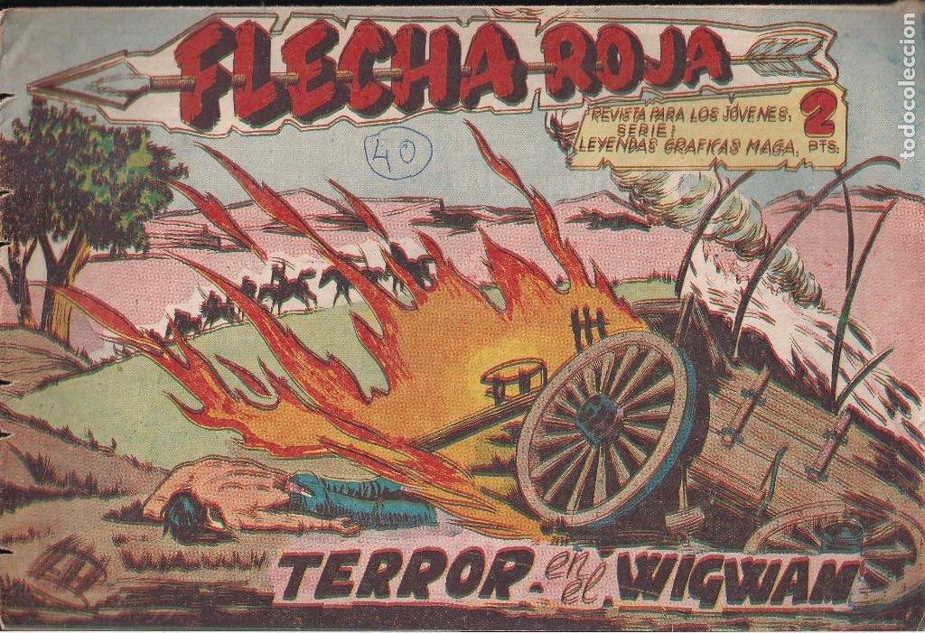 FLECHA ROJA Nº 40: TERROR EN EL WIGWAM (Tebeos y Comics - Maga - Flecha Roja)